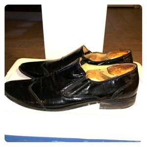 Pre Owned Soft Patent Leather Aldo Dress Shoe